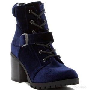 Abound Blue Velvet Boots